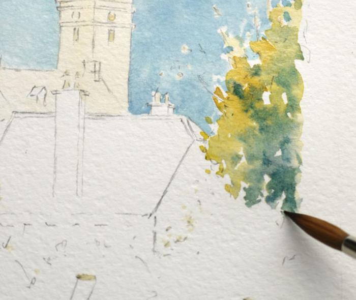 Journées du patrimoine 2019 - Atelier aquarelle à l'église Notre-Dame-de-l'Assomption