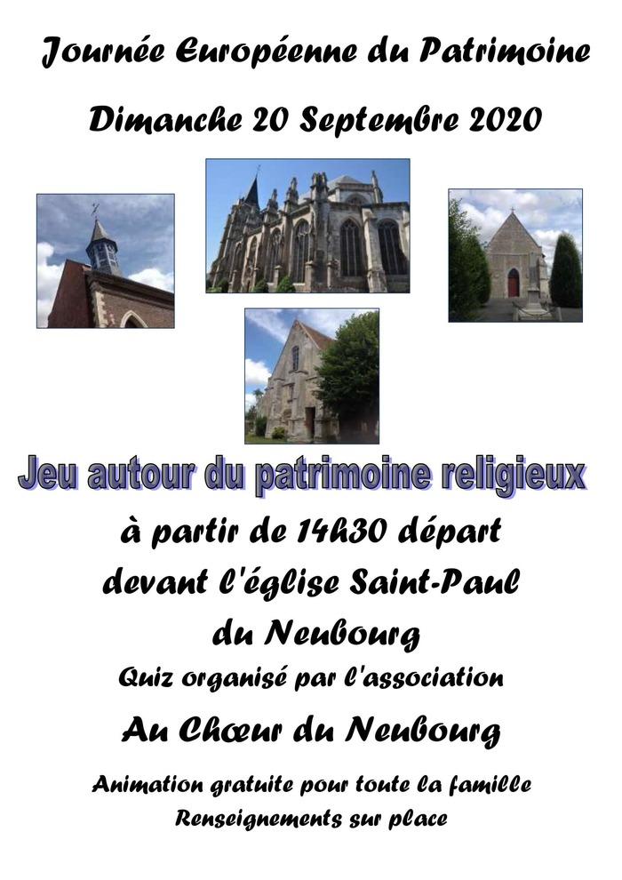 Journées du patrimoine 2020 - Jeu autour du patrimoine religieux