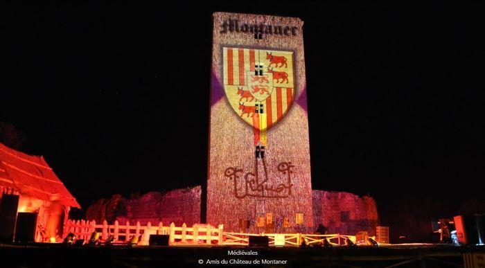 Illumination château de Montaner