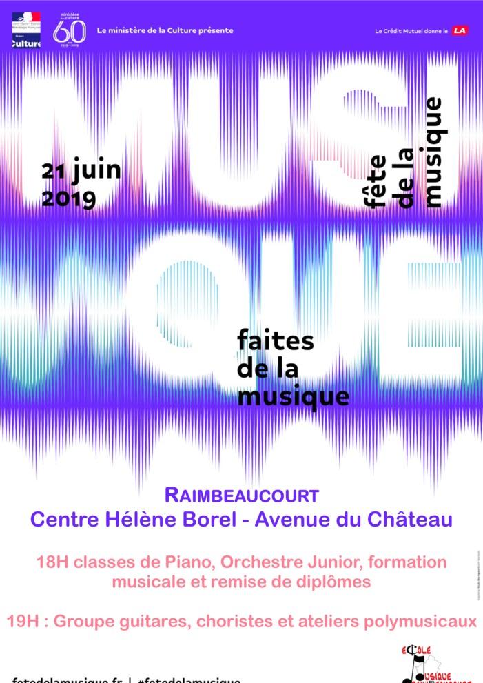Fête de la musique 2019 - L'Ecole de Musique Intercommunale de Raimbeaucourt