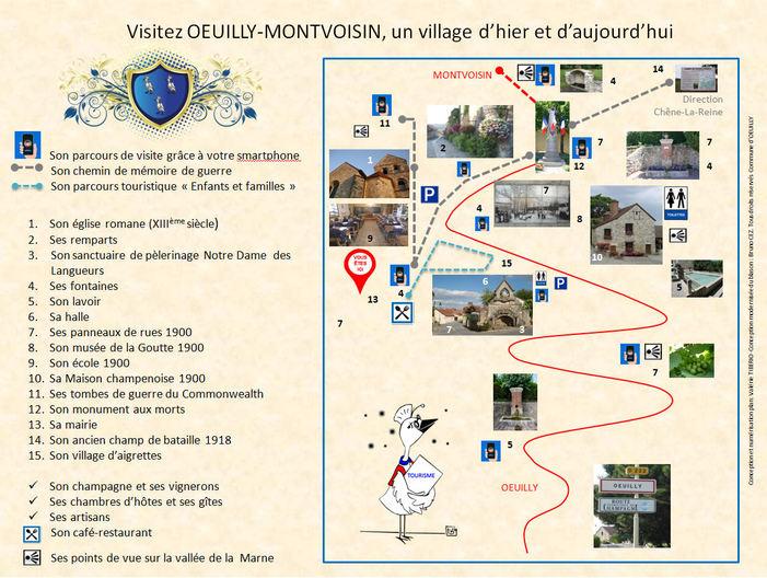 Journées du patrimoine 2019 - Visite libre et historique du village d'Oeuilly