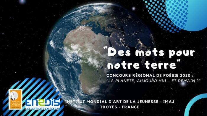 """Découvrez quelques lauréats du Concours de poésie en langue française """"Des mots pour notre terre"""". Les 3 premiers prix de chaque catégorie seront publiés du 13 au 21 mars sur notre page Facebook."""