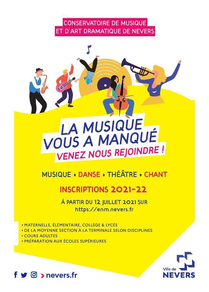 Inscriptions 2021/2022 Conservatoire de Nevers
