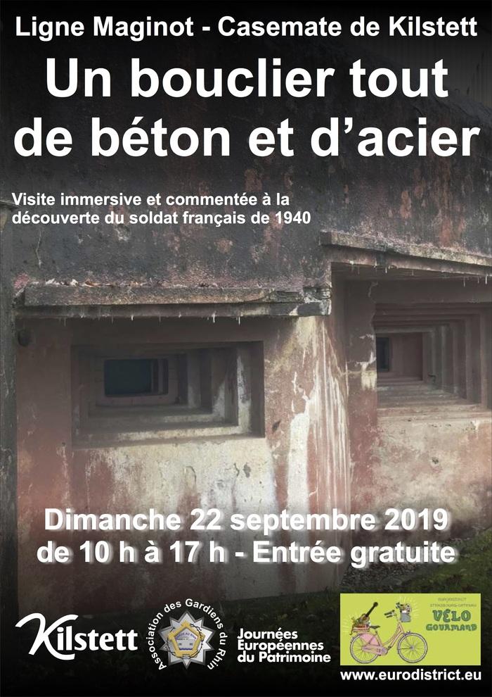 Journées du patrimoine 2019 - Visite de la casemate de Kilstett de la ligne Maginot