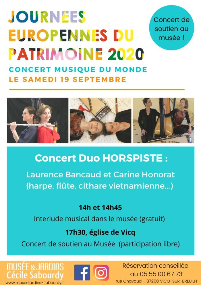 Journées du patrimoine 2020 - Concert Duo Horspiste