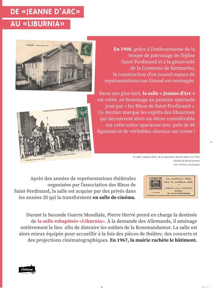 Journées du patrimoine 2020 - Exposition sur l'histoire du théâtre à Libourne