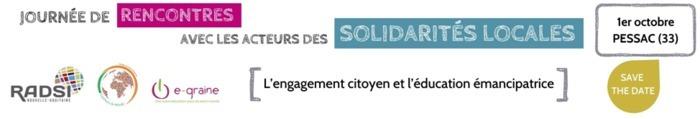 Le RADSI Nouvelle-Aquitaine avec Cool'eurs du Monde et e-graine Nouvelle-Aquitaine organisent une matinée de rencontres avec les acteurs de la solidarité internationale et des transitions en région.