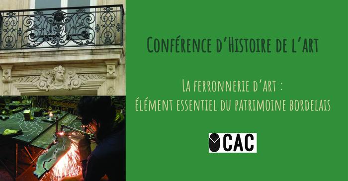 Conférence Histoire de l'Art : La ferronnerie d'Art à Bordeaux