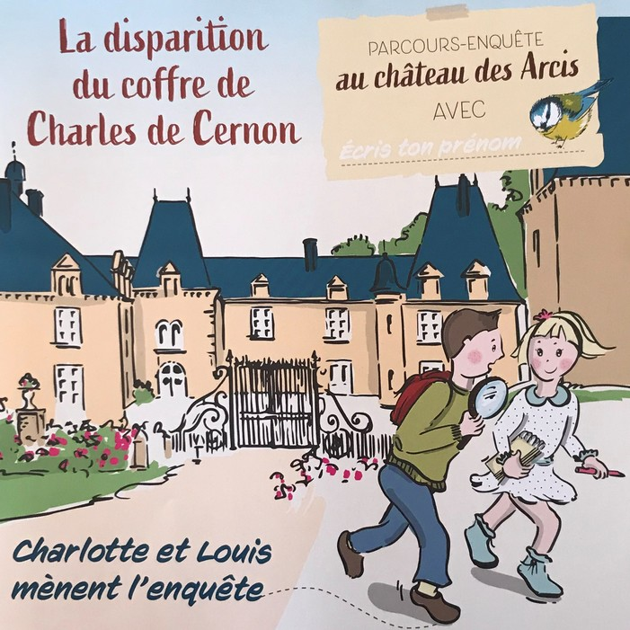 Journées du patrimoine 2020 - Parcours énigme (enfants de 6 à 12 ans): Charlotte et Louis mènent l'enquête
