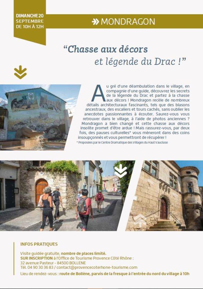 Journées du patrimoine 2020 - Visite guidée Mondragon