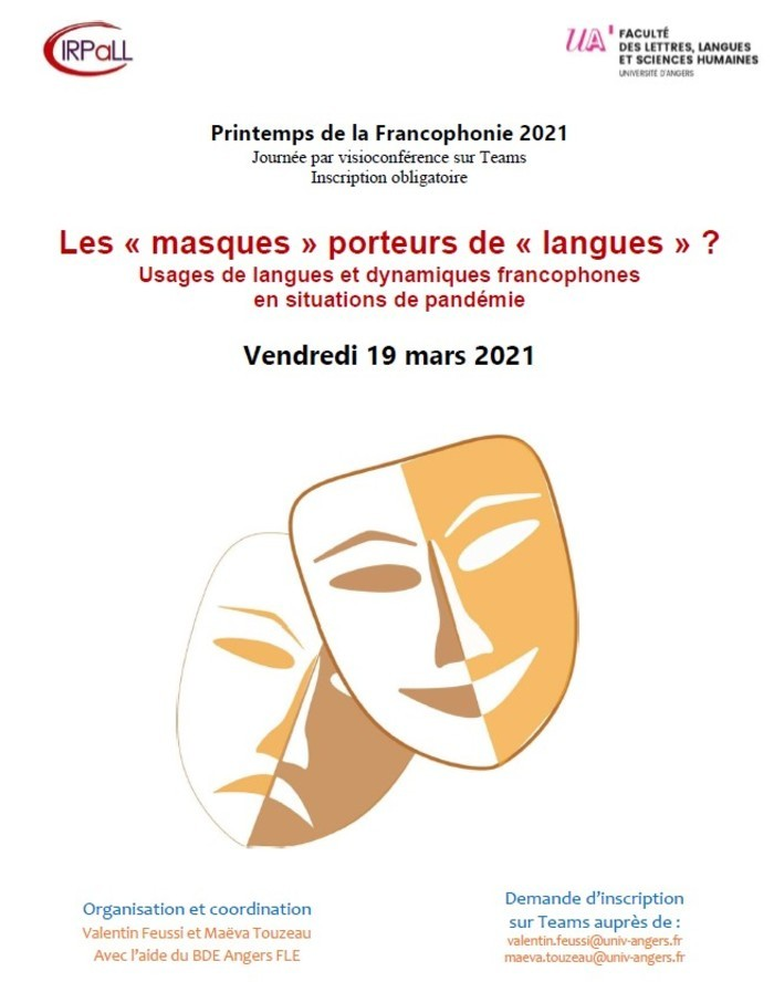 Journée d'études sur la diversité des réponses en « langues » proposées dans les expériences la pandémie dans différentes situations francophones.