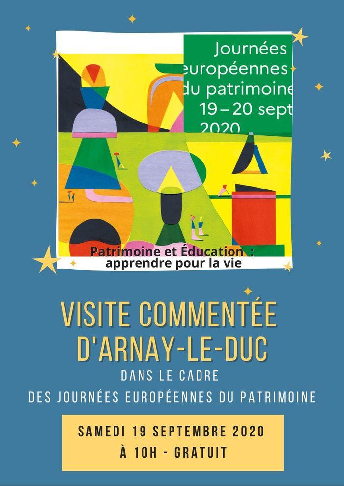 Journées du patrimoine 2020 - Visite commentée d'Arnay-le-Duc