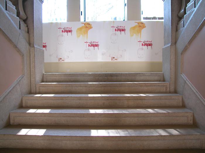 Journées du patrimoine 2019 - Lancement de l'exposition sur bâches, Arbres à bascule : galerie de portraits, réalisée par l'artiste Philippe Jacquin-Ravot