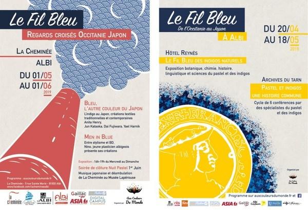 La manifestation « Le Fil Bleu » commence, en ce début de mois à Toulouse pour poursuivre sa route jusqu'à Albi où se tiendra une palette d'événements, entre le 20 avril et le 1er Juin