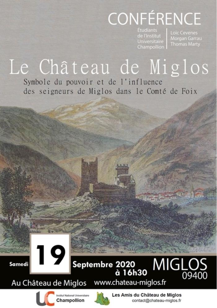 Journées du patrimoine 2020 - Conférence « Le château de Miglos »