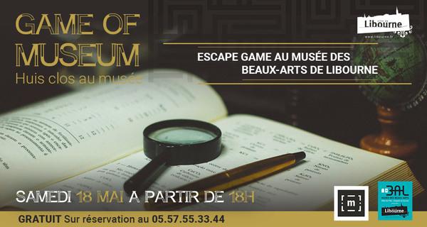 Nuit des musées 2019 -Escape Game