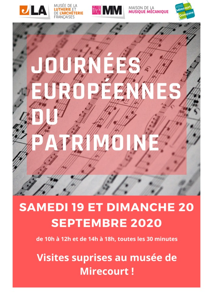 Journées du patrimoine 2020 - Visites surprises au musée de Mirecourt