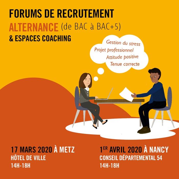 Forum de recrutement alternance Nancy