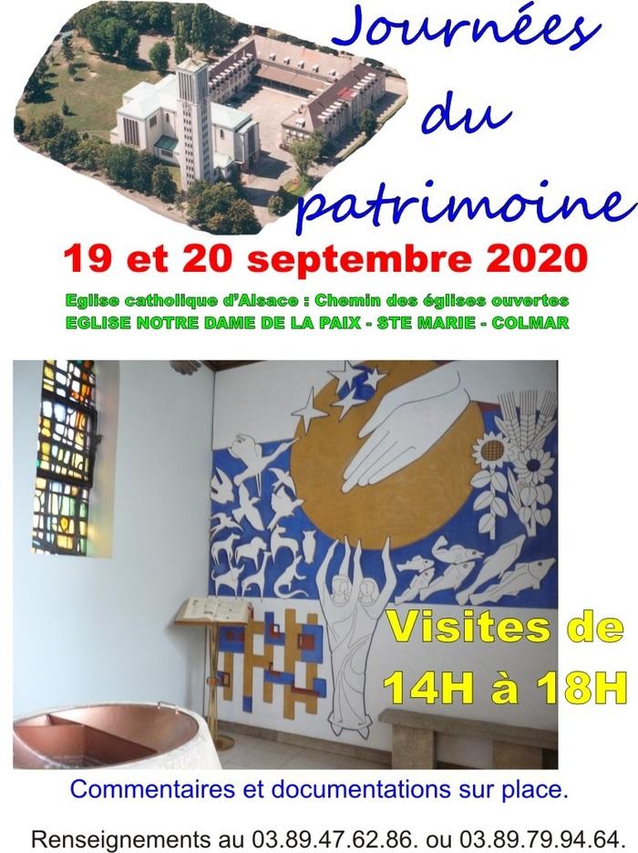Journées du patrimoine 2020 - Visite guidée de l'église Sainte-Marie de Colmar