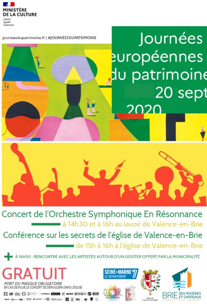 Journées du patrimoine 2020 - Concert symphonique au lavoir de Valence-en-Brie