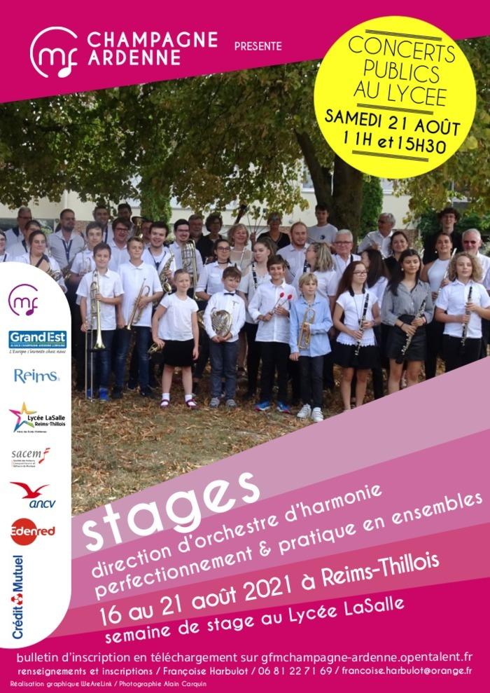Stage : Perfectionnement et Pratique collective pour instruments d'harmonie