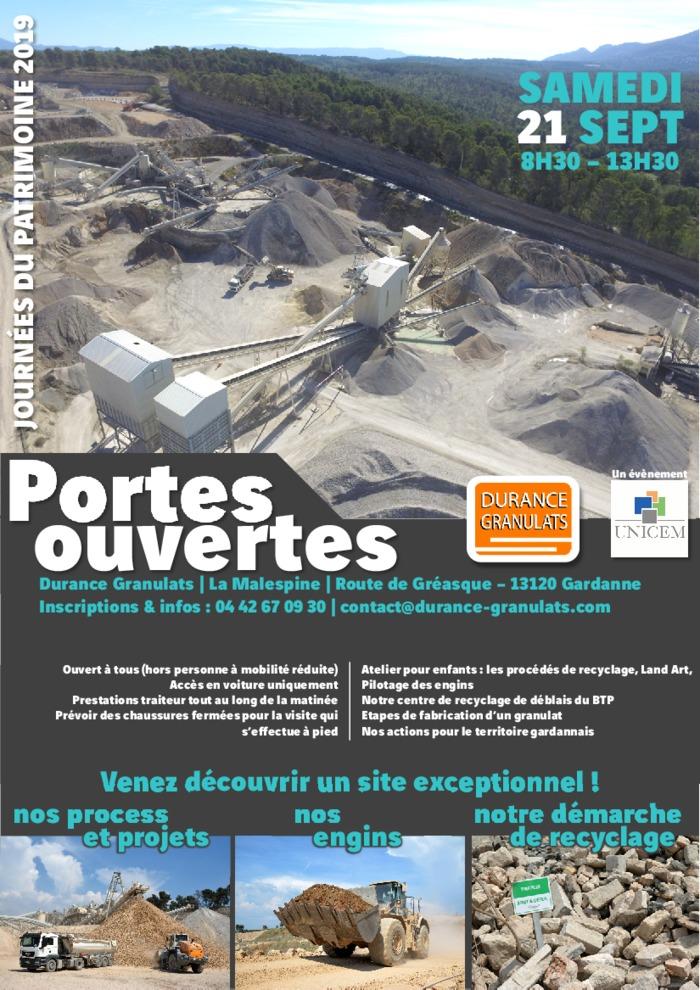 Journées du patrimoine 2019 - Portes Ouvertes Carrière et centre de recyclage de deblais du BTP