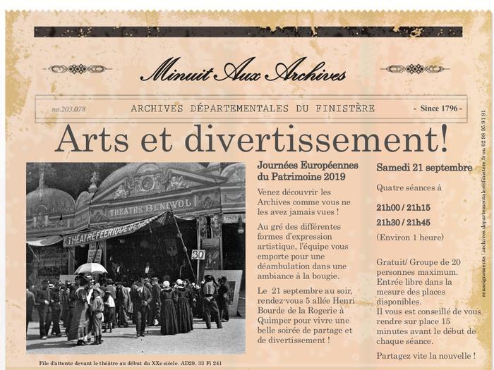 Journées du patrimoine 2019 - Minuit aux Archives