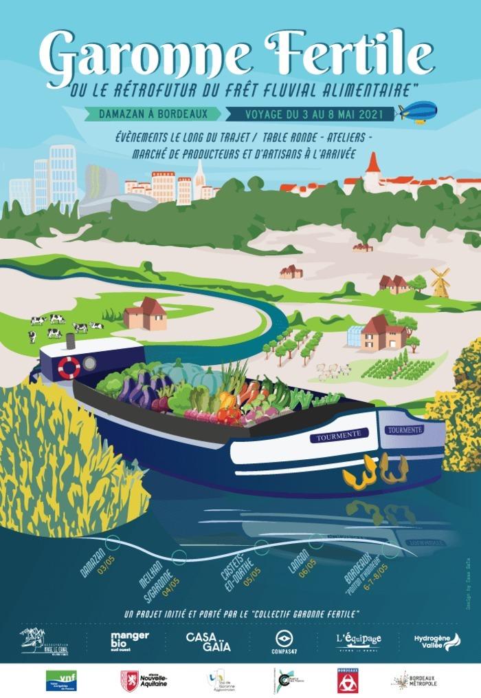 Garonne Fertille Péniche Tourmente