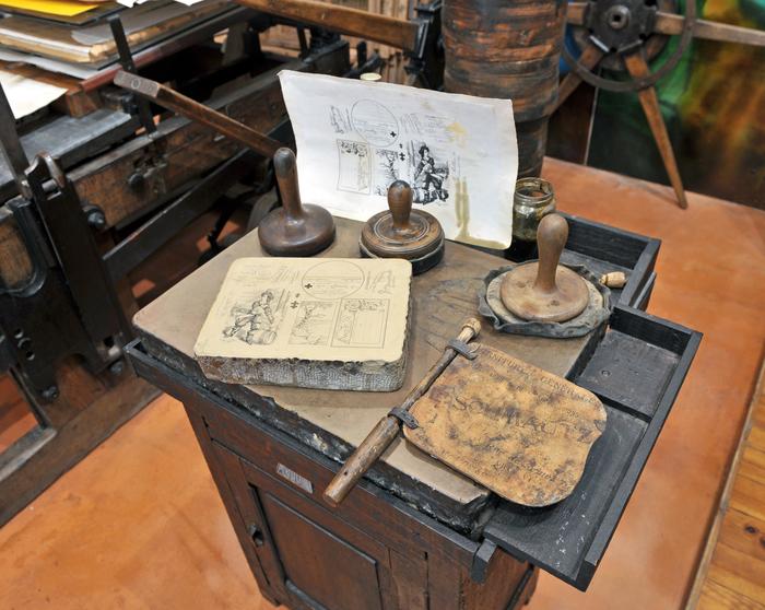 Journées du patrimoine 2019 - Démonstrations de lithographie au Musée du Cartonnage et de l'Imprimerie