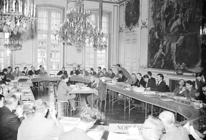Journées du patrimoine 2019 - Reconstitution du 1er Comité des ministres du Conseil de l'Europe