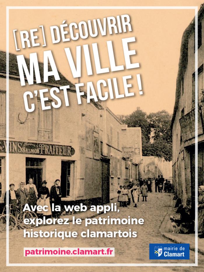 Journées du patrimoine 2020 - Clamart Patrimoine ! La nouvelle web appli