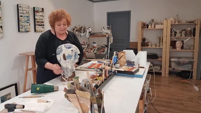 Journées du patrimoine 2020 - METIERS D'ART / Atelier COULEURS & CO, Sophie Van Moffaert – Céramiste et peintre à l'encaustique à Romans sur Isère