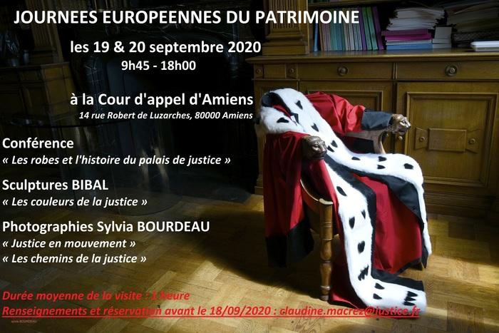 Journées du patrimoine 2020 - Journées européennes du patrimoine 2020 à la Cour d'appel d'Amiens
