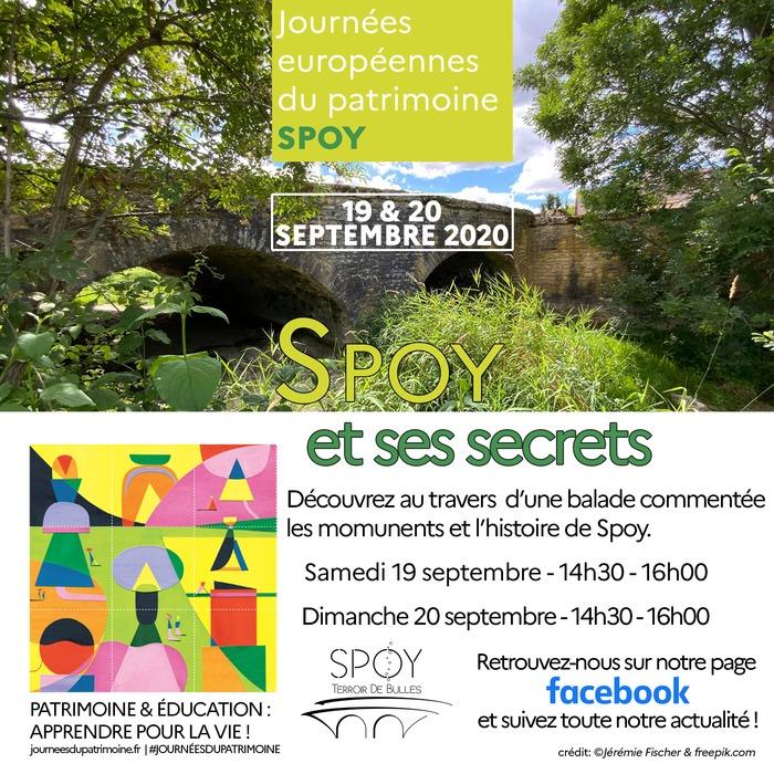 Journées du patrimoine 2020 - Balade commentée de l'histoire et des monuments de Spoy