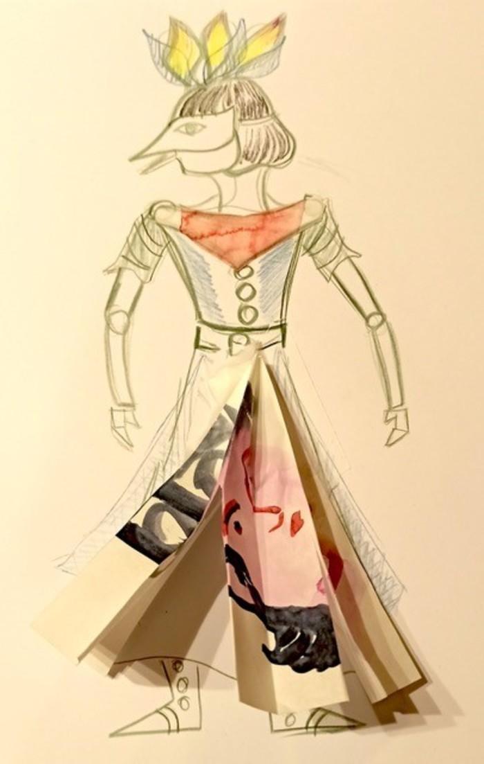 Stage de Théâtre de Marionnettes en papier