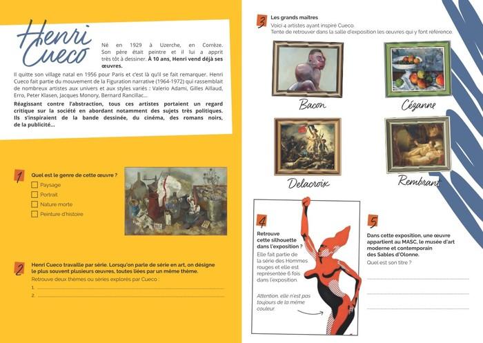 Journées du patrimoine 2020 - Livret-jeu de l'exposition Henri Cueco