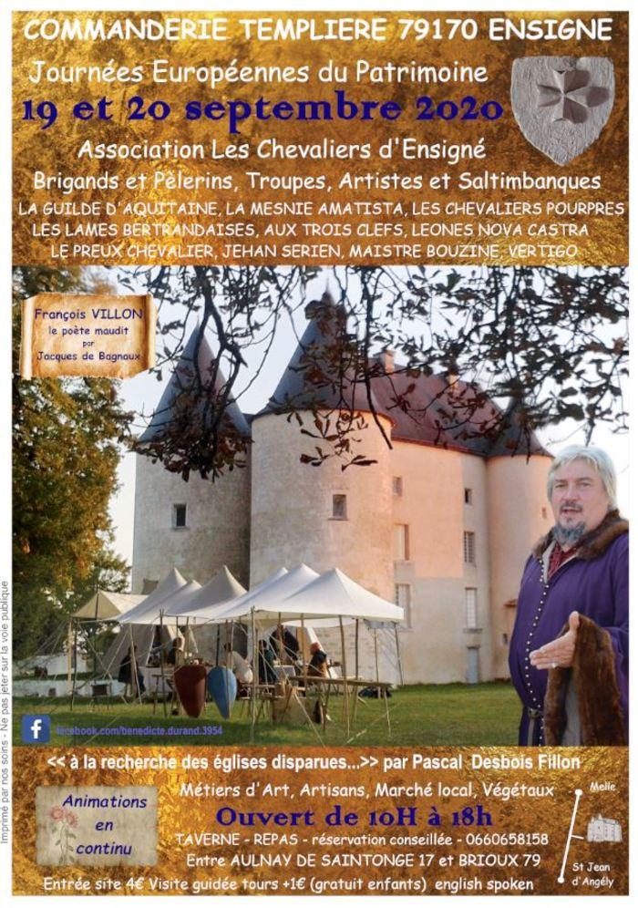 Journées du patrimoine 2020 - Découverte du site de la commanderie et fête médiévale !