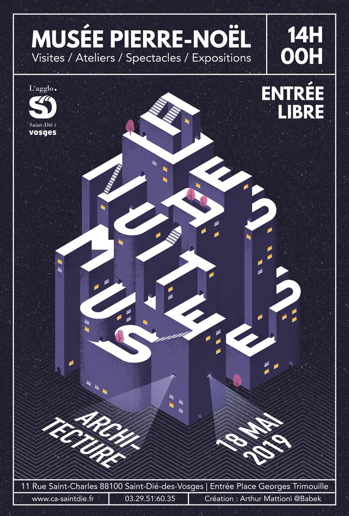 Nuit des musées 2019 -Atelier « Jeu de cubes » avec l'illustrateur Vincent Godeau.