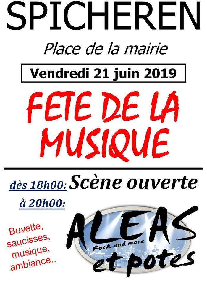 Fête de la musique 2019 - Scène ouverte + Aléas et potes