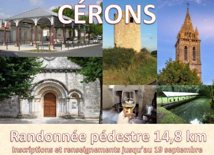 Journées du patrimoine 2020 - Randonnée pédestre à la découverte du patrimoine de Cérons