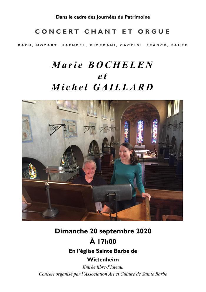 Journées du patrimoine 2020 - Concert duo de Marie Bochelen au chant et Michel Gaillard à l'orgue