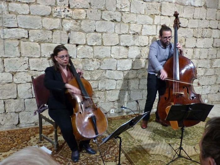 Le 15 octobre 2020 Jean-Baptiste MOREL contrebasse Marion PICOT : violoncelle