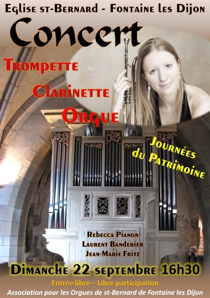 Journées du patrimoine 2019 - Concert Trompette, Clarinette et Orgue