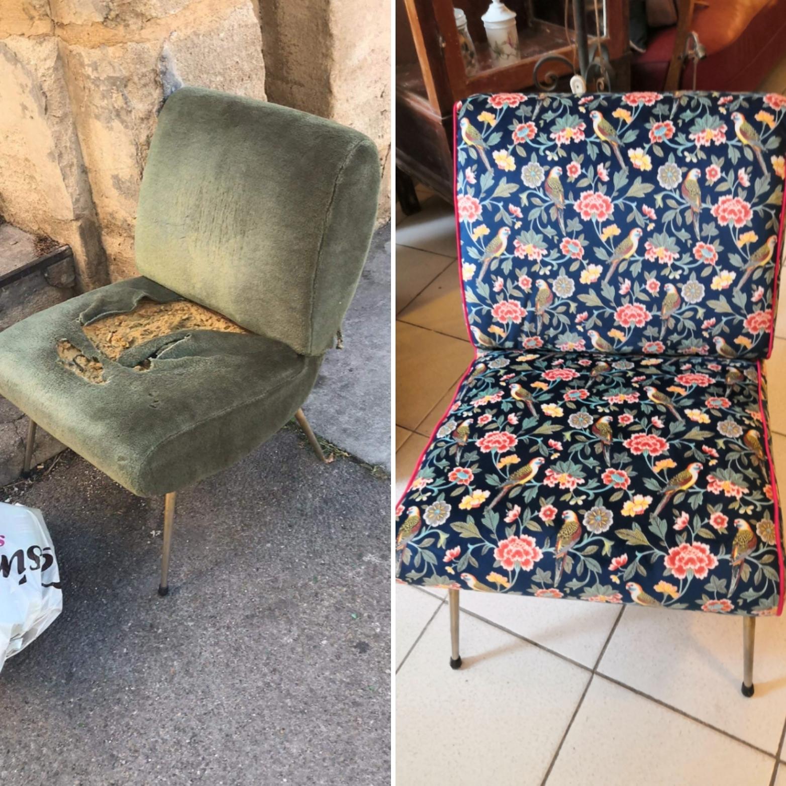 Redonnez vie à un fauteuil ! Solène Mathé, autodidacte et touche à tout, vous donnera les rudiments des techniques tapissières du démontage au remontage.