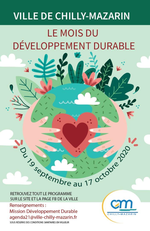 Le mois du développement durable par la mairie de Chilly-Mazarin