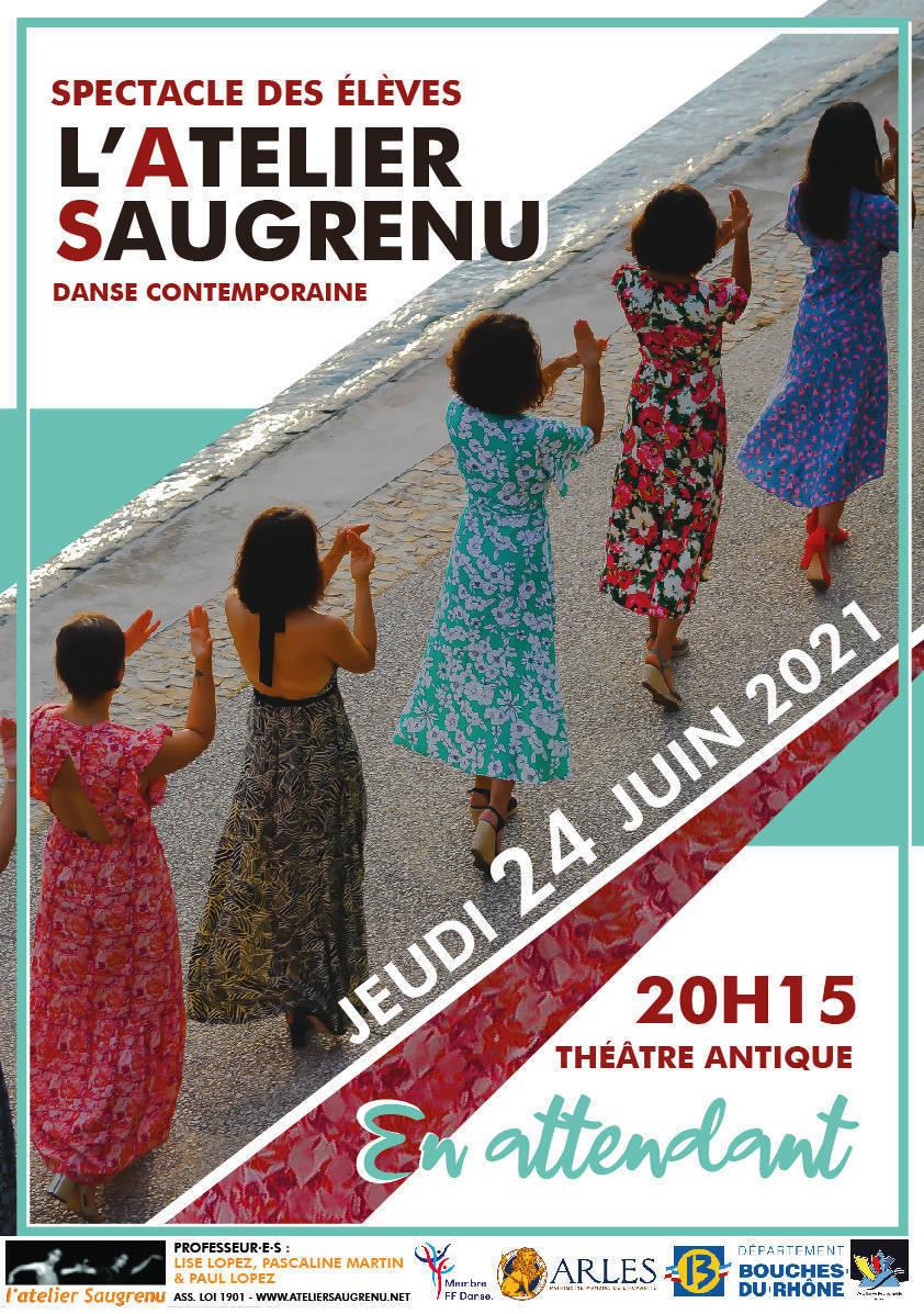 Spectacle de danse contemporaine des élèves de l'Atelier Saugrenu