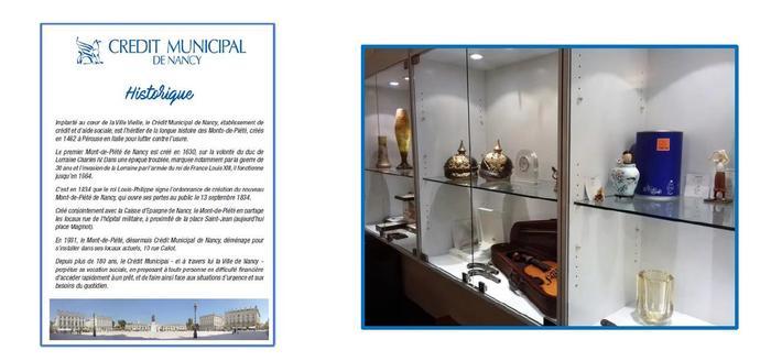 Journées du patrimoine 2019 - Exposition sur l'histoire du Crédit Municipal de Nancy