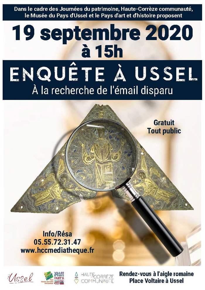 Journées du patrimoine 2020 - Enquête à Ussel : sur les traces de l'émail disparu