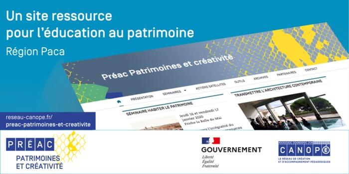 Journées du patrimoine 2020 - Annulé   Présentation d'un site ressource pour l'éducation au patrimoine de la région Paca