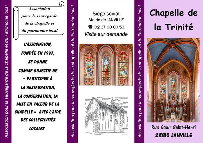 Journées du patrimoine 2019 - Visite commentée de la Chapelle de la Trinité